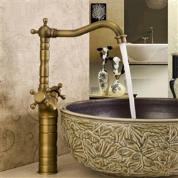 Classic Antique Bathroom Faucet - Deck Mount
