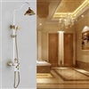Riio European Exposed Bathroom Rainfall Shower Set