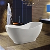 "Fontana 67"" Freestanding Oval Bath Tub - Acrylic White"