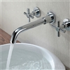 BathSelect Taranto Wall Mount 3 Piece Chrome Faucet Set