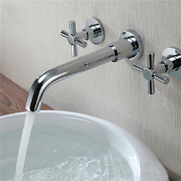 wall mount faucet 3 piece set