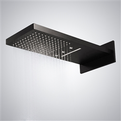 BathSelect LED Dark Oil Rubbed Bronze Waterfall/Rainfall Shower Head