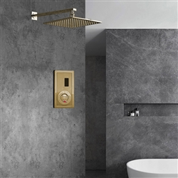 Brushed Gold Sensor Controlled Automatic Shower Set