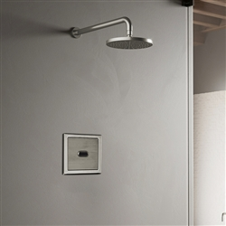 Wall Mount Brushed Nickel Sensor Controlled Automatic Shower Set