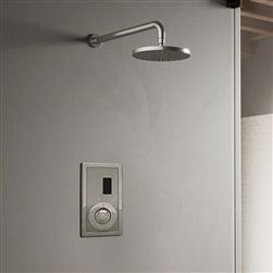 BathSelect Wall Mount Brushed Nickel Sensor Controlled Automatic Shower Set