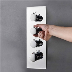 Three Function Chrome Diverter Shower Controller Mixer