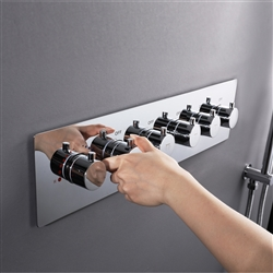 Five Function Chrome Diverter Shower Controller Mixer