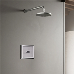 BathSelect Wall Mount Chrome Sensor Controlled Automatic Shower Set