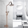 Bavaria Wall Mounted Round Gold Bathroom Shower Combo Set
