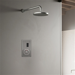 Wall Mount Chrome Sensor Controlled Automatic Shower Set