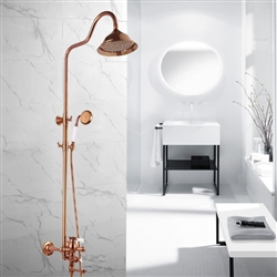 Toulouse Rose Gold Wall Mounted Bathroom Rainfall Shower Set