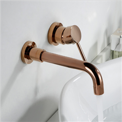 Chatou Rose Gold Finish Wall Mount Faucet With Single Handle