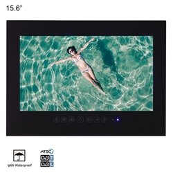 "Bavaria 15.6"" inch Wall Mount Water Proof Bathroom LED TV (Black)"