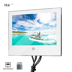 Valence 10.6 inch Waterproof Mirror Glass Bathroom USB TV (with base stand)