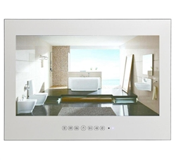Marsala 15.6 inch Black Bathroom Waterproof Android 9.0 Smart WIFI LED TV (Silver/Mirror)