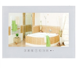 "Dijon 15.6"" IP66 9.0 Android Waterproof Bathroom LED TV (White)"