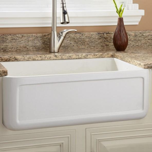 Buy Online Bavaria White Deep Bowl Undermount Farmhouse Apron Front Kitchen Sink