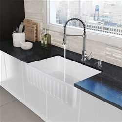 Deauville Acrylic White Undermount Kitchen Sink