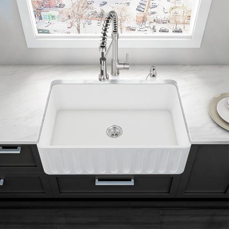 Shop Deauville Acrylic White Undermount Kitchen Sink