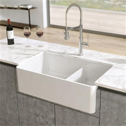 Le Havre Double Quartz Stone Undermount Basin Vessel Sink