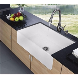 Chatou White Bacteria Resistance Kitchen Sink