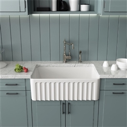 Melun High Quality White Acrylic Kitchen Sink