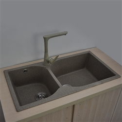 St. Gallen Matte/Polished Undermount Double Bowl Kitchen Sink