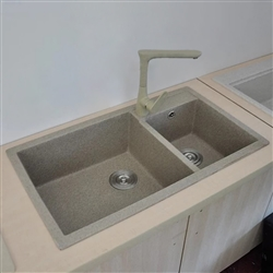 Deauville Man Made Artificial Stone Undermount Kitchen Sink