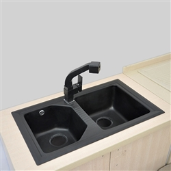 Marseille High Quality Artificial Stone Double Kitchen Sink