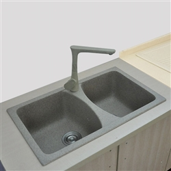 Toulouse Double Bowl Modern Design Kitchen Sink