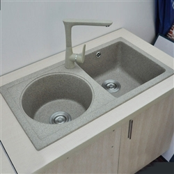 Lyon Gray Modern Design Acrylic Kitchen Sink
