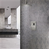 BathSelect Ceiling Mount Brushed Nickel Sensor Controlled Automatic Shower Set