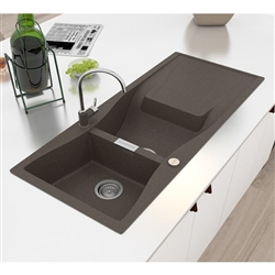Valence Dark Gray Artificial Stone Undermount Kitchen Sink