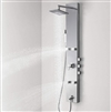 Melun Shower Panel System Faucets Sets Complete Tower Column with Adjustable Massage Jets 304 Stainless Steel Brushed Nickel Multi-Function with Spout Rainfall 51""