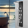 Toulouse Stainless Steel Shower Panel System, Height Adjustable Rainfall Shower Head