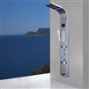 Lyon LED Shower Panel Tower System, Rainfall and Mist Head Rain Massage Stainless Steel Shower Fixtures with Adjustable Body Jets in Brushed Nickel