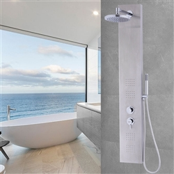 Brushed Stainless Steel Shower Panel