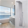 "Bollnäs 55"" Brushed Stainless Steel Shower Panel Rainfall Waterfall w/Massage Body Jets"