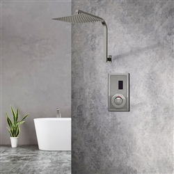 BathSelect Brushed Nickel Sensor Controlled Automatic Shower Head