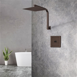 Light Oil Rubbed Bronze Sensor Controlled Automatic Shower Set