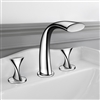 Amida Chrome Finish Double Handled Bathtub Faucet