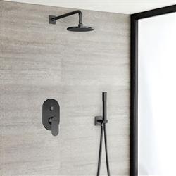 Bravat Shower Set With Valve Mixer Concealed Wall Mounted In Dark Oil Rubbed Bronze