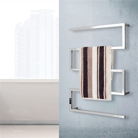BathSelect Stainless Steel Electric Bar Towel Warmer In Chrome Finish