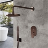 Bravat Shower Set With Valve Mixer Concealed Wall Mounted In Light Oil Rubbed Bronze