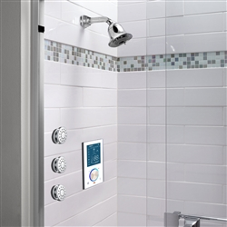 BathSelect Wall Mount Shower Set, Complete with Mixer and Three Body Jets