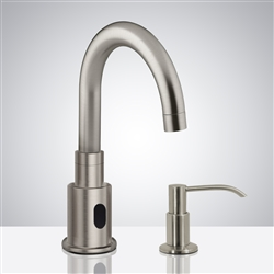 Bathselect Brushed Nickel Bathroom sensor motion faucets