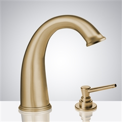Bathselect Brushed Gold Bathroom sensor motion faucets
