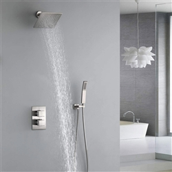 Fontana Rainshower Thermostatic Brushed Nickel Shower System With Hand Shower