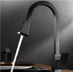 Matte Black Dual Moder Kitchen Sink Faucet with Pull Out Sensor Touch