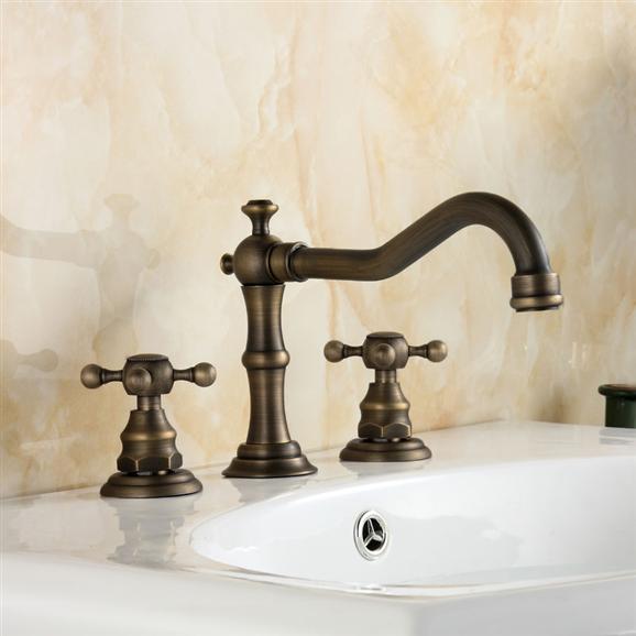Bathroom Faucets One Week Sale Bathselect Crimea Antique Brass Dual Handled Bathroom Sink Faucet One Week Sale Widespread Bathroom Sink Faucets